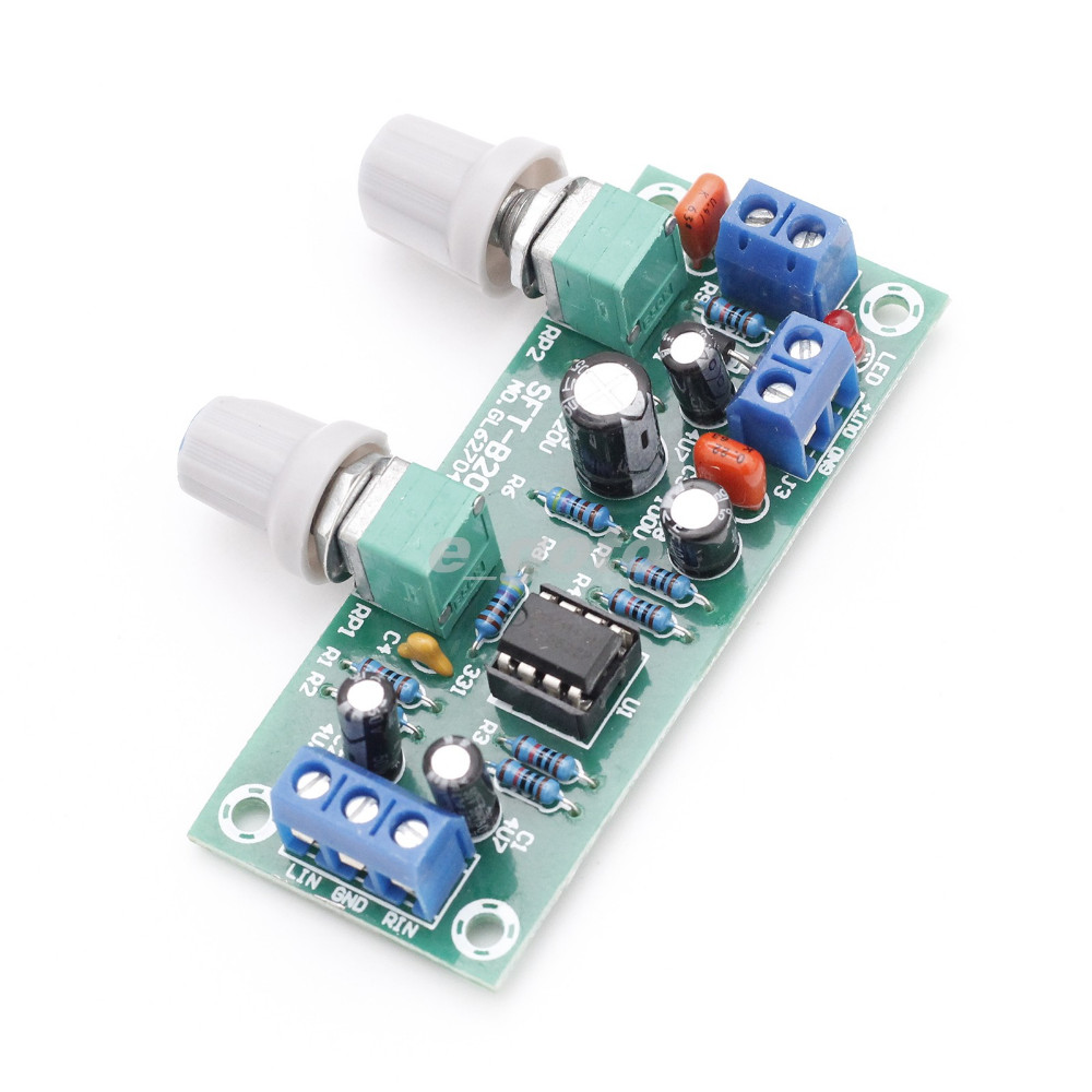 Low Pass Filter Plate Subwoofer Preamp Board 2 1 3 Channel DC 10 24V 22Hz 300Hz