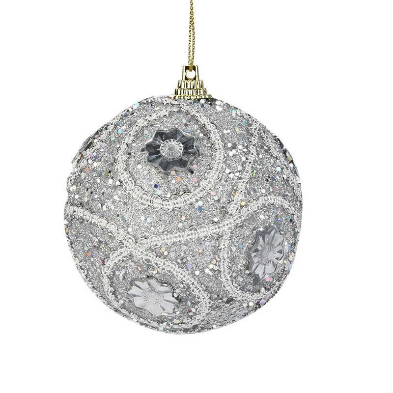 1Pc Christmas Santa Rhinestone Glitter Baubles Ball 8cm Xmas Tree Ornament Decor Gift New Years Home Decor #2o29 (2)