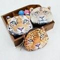 Дети кошелек 3D животных печатные портмоне Кошелек Женский женский кошелек дети Сумка небольшой мини сумка леопард лев тигр