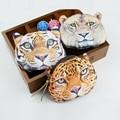Kids purse 3D animal printed coin purse Money Purse Female Women's wallet children Bag Pouch small mini bag leopard lion tiger