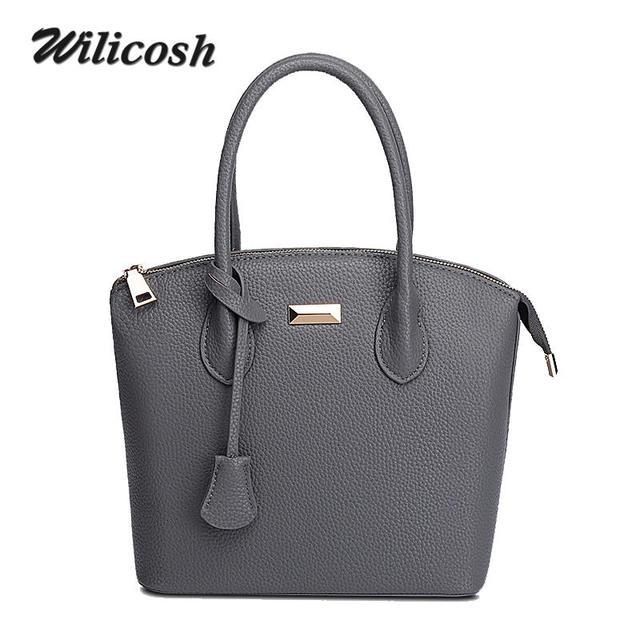 Wilicosh Brand New Vintage Women's Leather Handbag Tote Trendy Shoulder Bags Messenger Bag Crossbody bag Bolsa Bags Ladies WL156