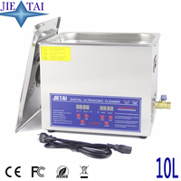 JIETAI Digital 10L Ultrasonic Cleaner with Heating Timer Bath 240W Ultrasound Machine Dental Watches Glasses Coins Tool Part