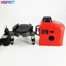 Yüksek Kaliteli XEAST XE-65D 12 Hattı 3D lazer seviye 360 Dikey Ve Yatay 3D Lazer Seviye Öz-tesviye Kırmızı işın