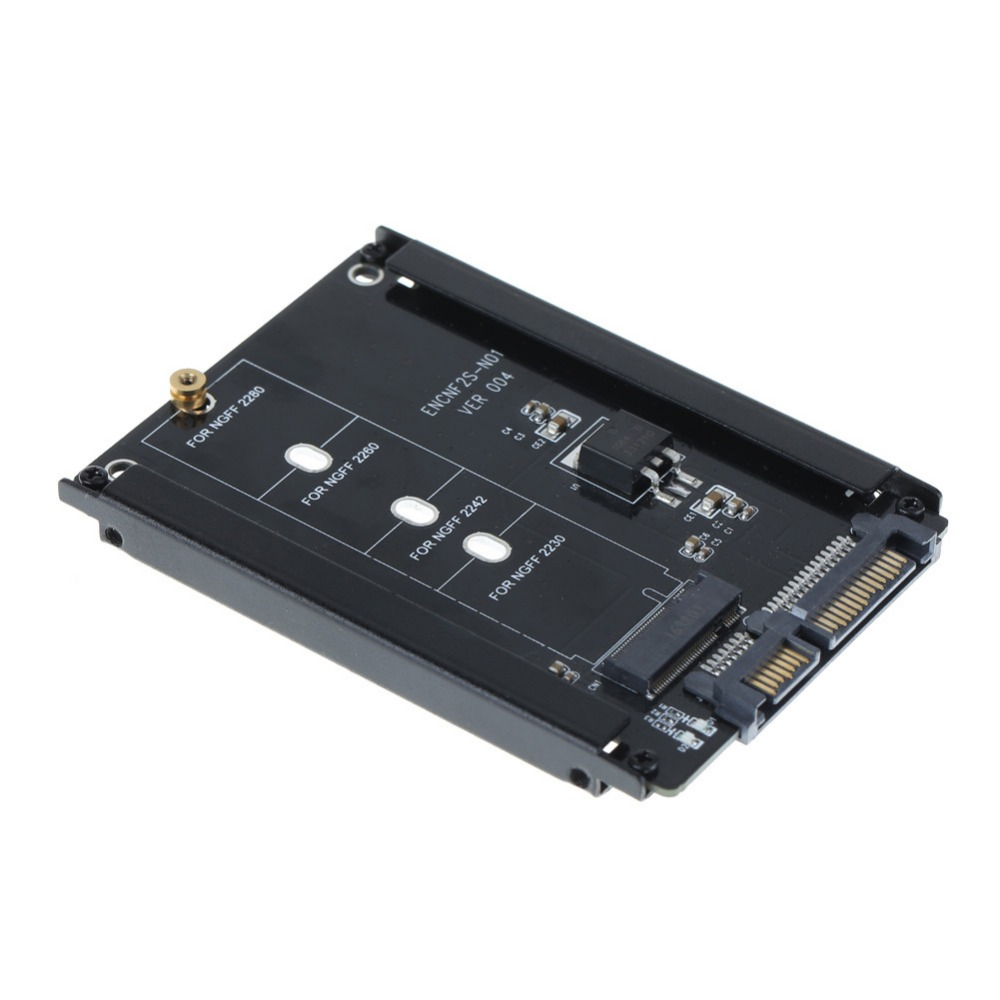 High Quality Metal Case B+M Key M.2 NGFF SSD To 2.5 SATA 6Gb/s Adapter Card With Enclosure Socket M2 NGFF Adapter With 5 Screw
