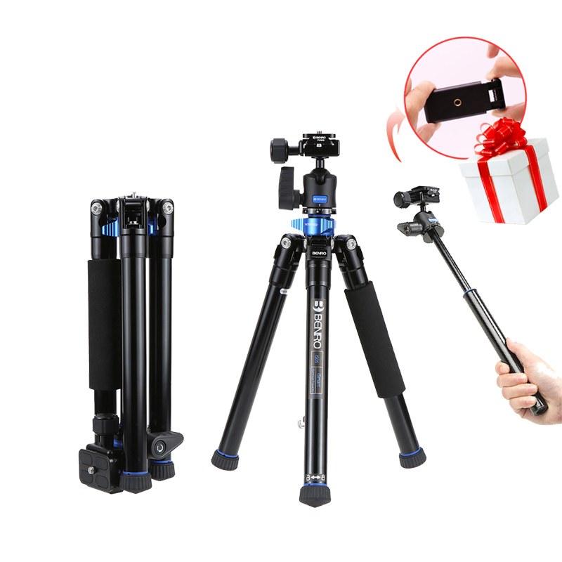 Ulanzi Benro Tripod IS05 Collapsible Aluminium Alloy Travel Tripod Selfie Stick Monopod  for Canon/Nikon for iPhone Smartphones