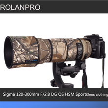 ROLANPRO obiektyw kamuflaż płaszcz przeciwdeszczowy dla Sigma 120 300mm F/2.8 OS sportowe obiektyw ochronny skrzynki obiektyw aparatu rękaw ochronny