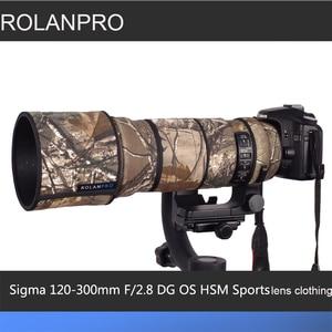 Image 1 - Rolanpro 렌즈 위장 코트 레인 커버 시그마 120 300mm f/2.8 os 스포츠 렌즈 보호 케이스 카메라 렌즈 보호 슬리브