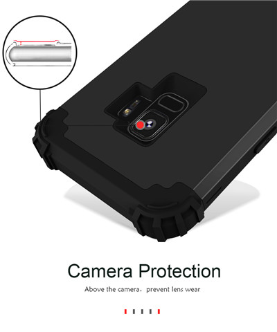 Heavy Duty Hybrid Case For Samsung Galaxy S9 S9Plus Shockproof Armor Rugged Case Cover Hard PC + Soft Rubber Silicone Phone Case (9)