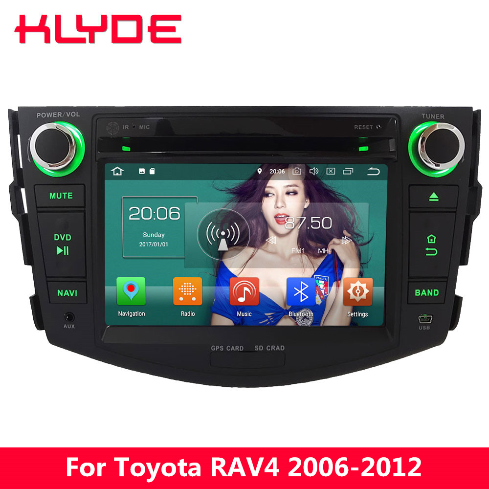 KLYDE 4 г Octa Core Android 8 4 ГБ Оперативная память 32 ГБ Встроенная память DVD мультимедиа плеер радио для Toyota RAV4 2006 2007 2008 2009 2010 2011 2012