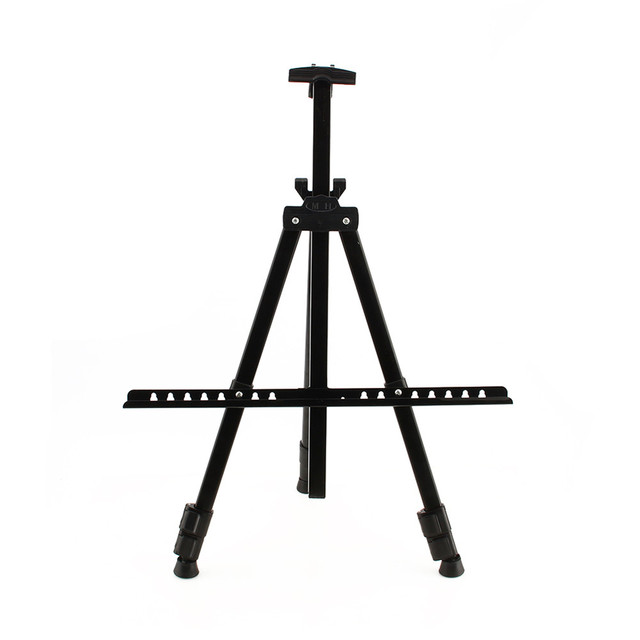 artist field studio painting easel tripod display telescopic white
