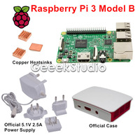 Raspberry Pi 3 Model B With Official 5 1V 2 5A Power Supply Official ABS Enclosure