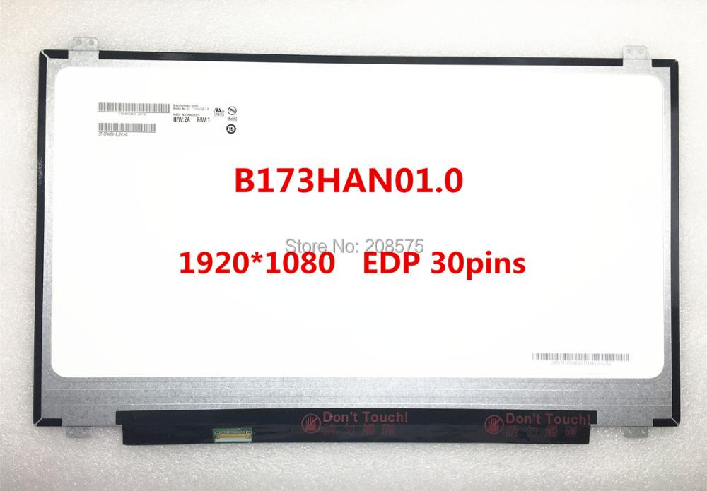 Free shipping B173HAN01.0 N173HCE-E31 LTN173HL02 LP173WF4 SPF1 SPF5 Laptop lcd screen 1920*1080 edp 30pins IPS free shipping new original 13 3 laptop lcd led screen lq133m1jw01 1920 1080 30pins notebook display
