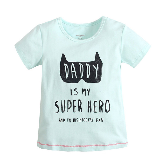 2016 Baby Boys Letter Print T-Shirt Toddler Short Sleeve tops Blouse cotton kids t shirt girls clothing 388