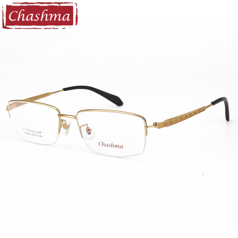 Prescription Glasses Big Size Optical Glasses Frame Men Titanium Semi Rim Gafas Titanium Eye Glasses Frames for Men Spectacles(China)
