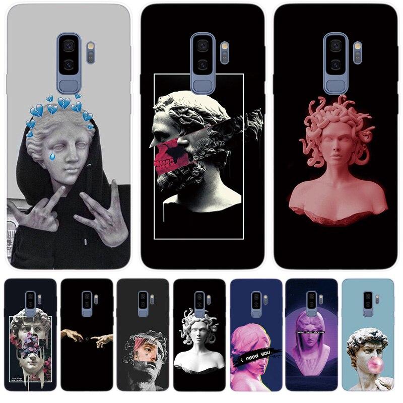 Fundas Silicone Phone Case For Samsung Galaxy A10 A30 A50 A70 S10 5G S8 S9 Plus S10e Note 10 Plus Cover Medusa Vaporwave Art