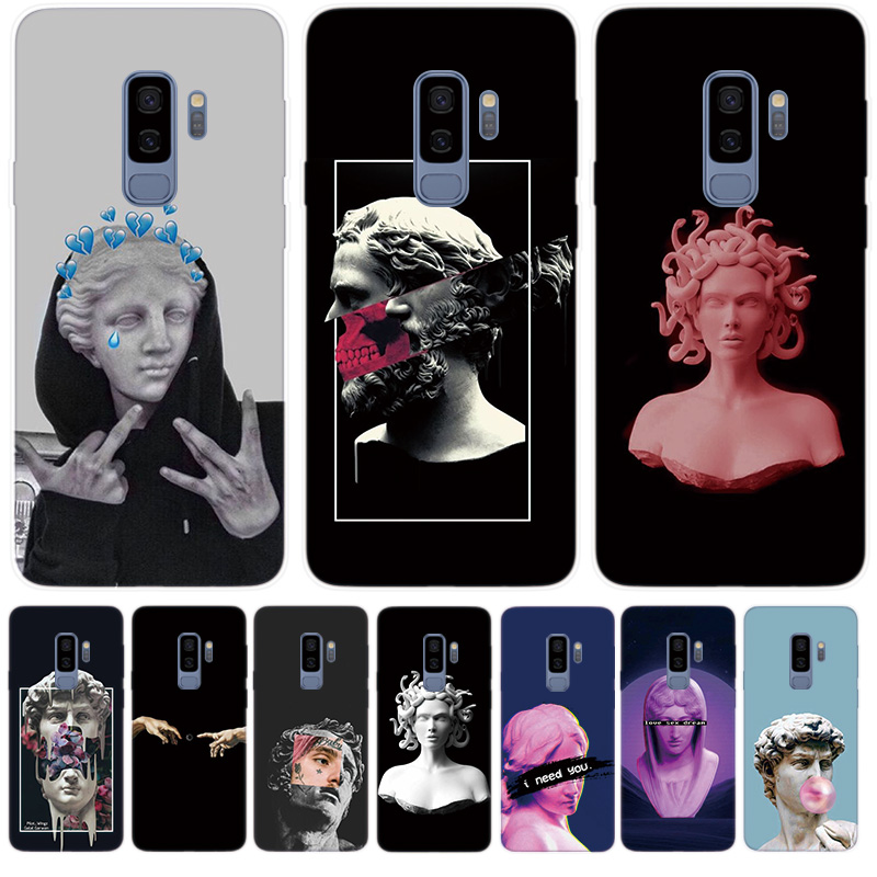 Fundas Silicone Phone <font><b>Case</b></font> For <font><b>Samsung</b></font> <font><b>Galaxy</b></font> M10 M20 M30 A10 <font><b>A30</b></font> A50 S10 5G S8 S9 Plus S10e Cover Medusa Vaporwave <font><b>Art</b></font> image
