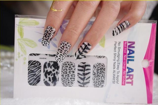 Aliexpress Buy Nails Art Zebra Leopard Sticker Manicure Decor