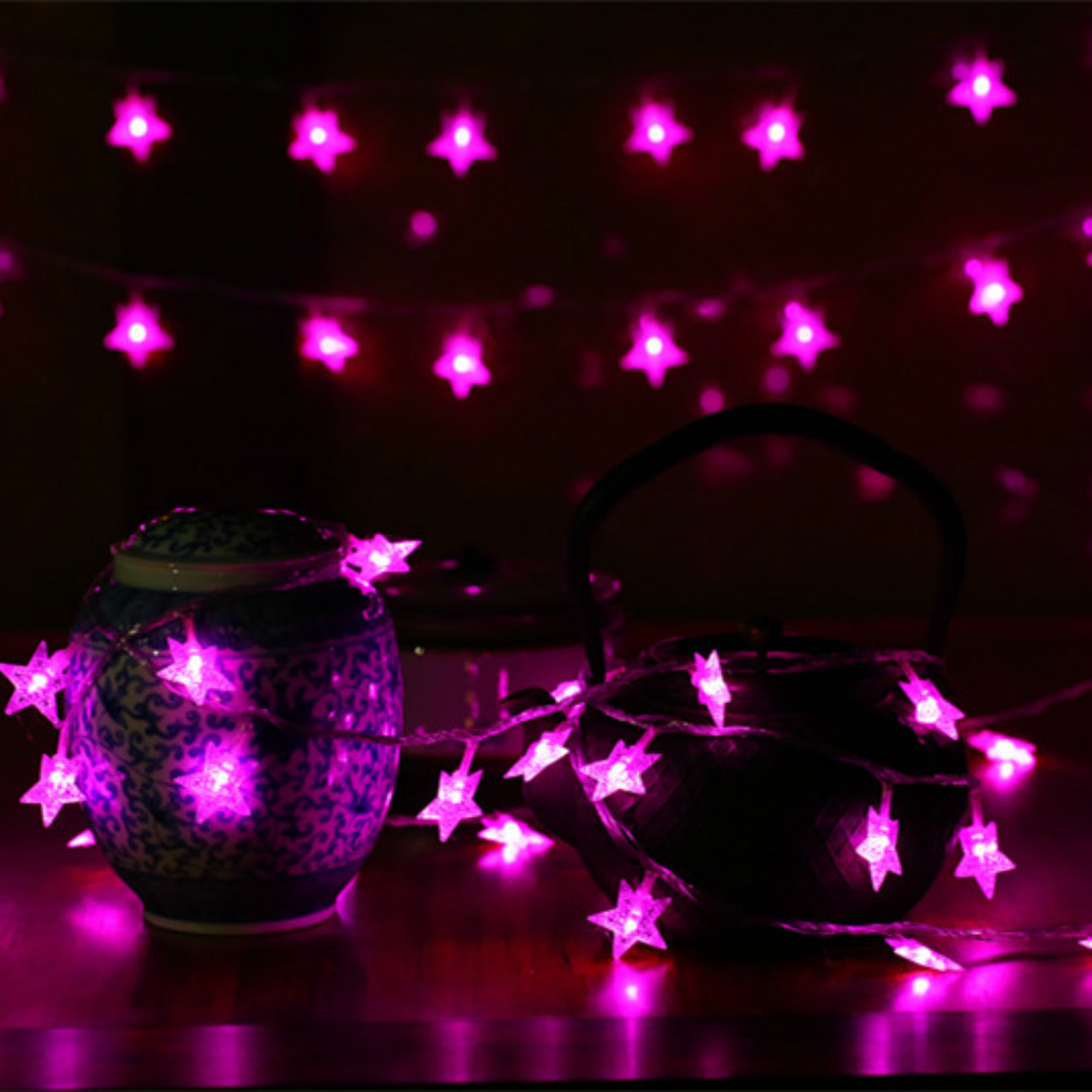 CHASANWAN 3 M 20 Lamp LED Star Battery Box Light String New Year New Year's Ornaments Christmas Decorations for Home Navidad.q 17