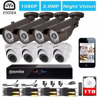 Eyedea 8 CH 1080P Standalone DVR Outdoor Indoor Dome Bullet 2 0MP 5500TVL CMOS LED Night