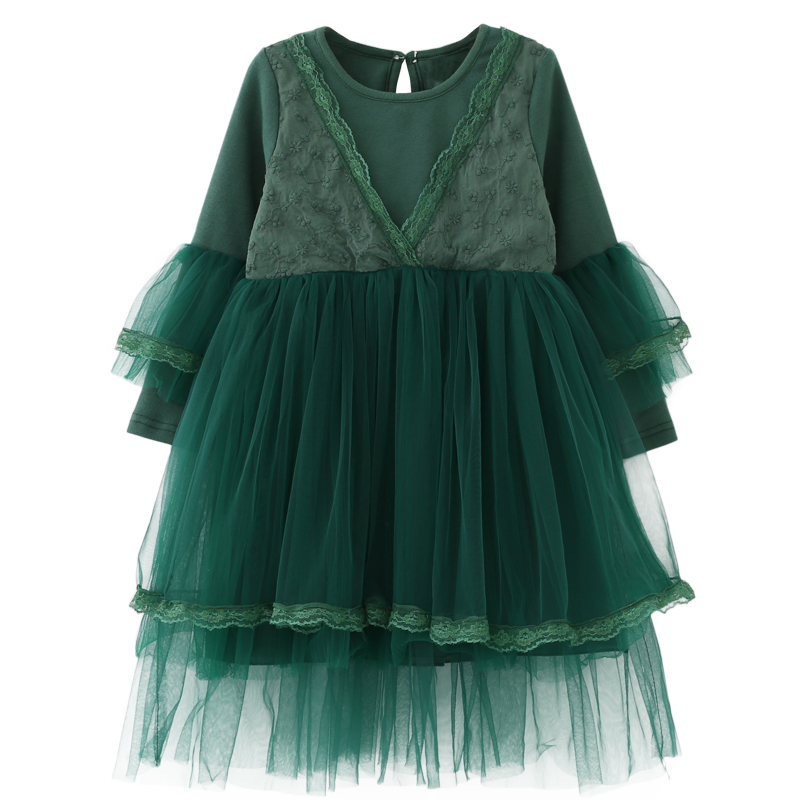 Girls Dress Wedding Party Dress Baby Kids Easter Costume 2018 New Spring Cute Lace Princess Dress for Children Clothes Vestidos kids girls lace princess dress children party dress for wedding baby girl clothes toddler solid color costume robe file vestidos