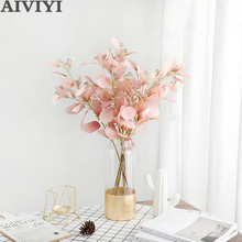 Bouquet Money-Leaf Wedding-Flower Fake-Plant Artificial Eucalyptus Home-Decoration Christmas-Party