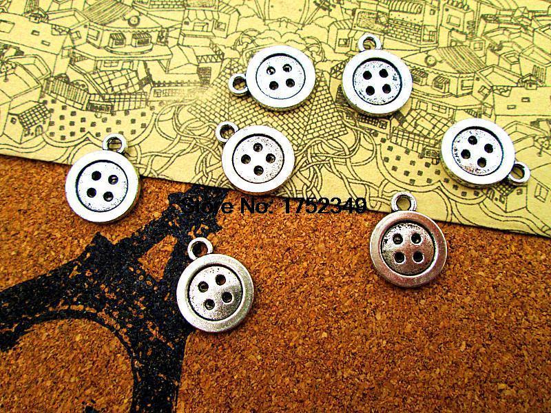 6pcs Tibetan Silver Swirl Round Snap Button Findings EF1668
