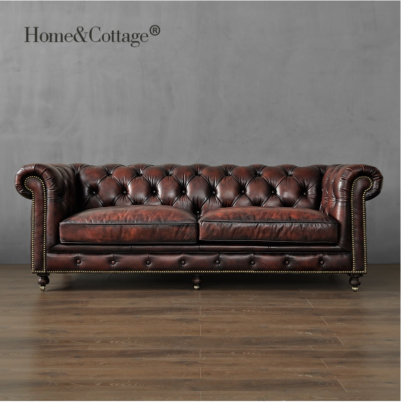 19th Century Club 226cm Sofa / 121cm Single Seat Couch