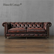 19th Century Club 226cm Sofa / 121cm Single Seat Couch / Package Included: 1x Seat-sofa, 1x Lover-sofa, 1x 226cm 3 seat Sofa
