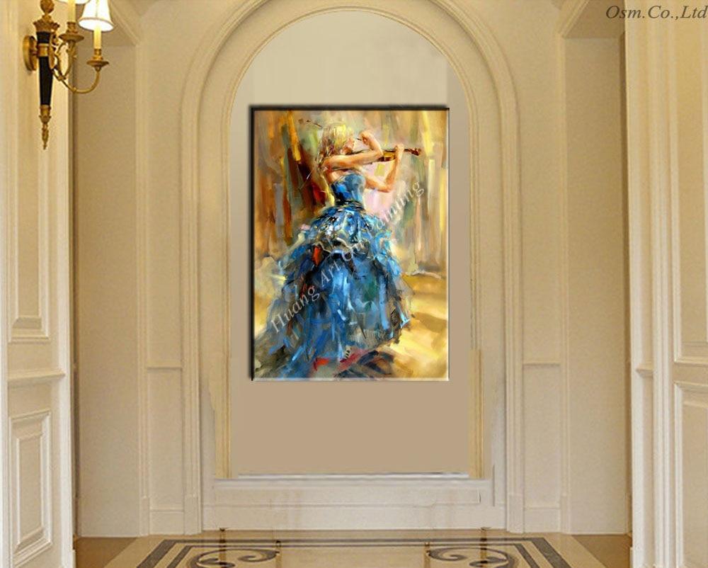 Created Art Handmade Flamenco Blue Skirt Dancer For Wall Decor ...