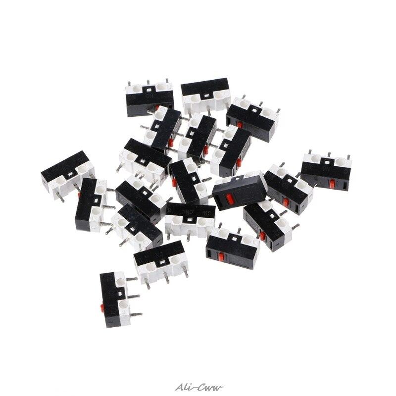 10 Piezas Interruptor De Botón De 3pin Ratón Interruptor Microinterruptor Para Razer Logitech G700 Ratón