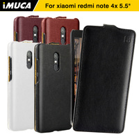 IMUCA Phone Cases Xiaomi Redmi Note 4x Case Cover Luxury Leather Capa Back Cover For Xiaomi