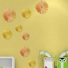 Последним Chic Home Decor 16 Шт. 3D Цветок Съемный Стикер Номер Наклейки Наклейки