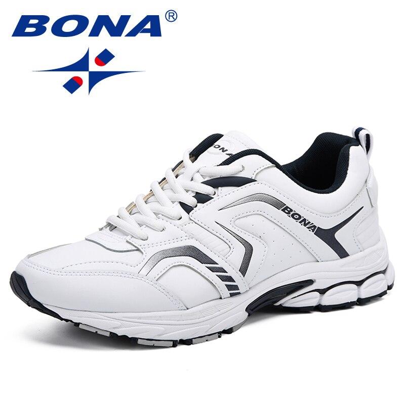 b543a975 BONA/дышащие кроссовки; мужская повседневная обувь; chaussure homme; модные  кроссовки на плоской подошве; zapatillas mujer Zapatos De Hombre