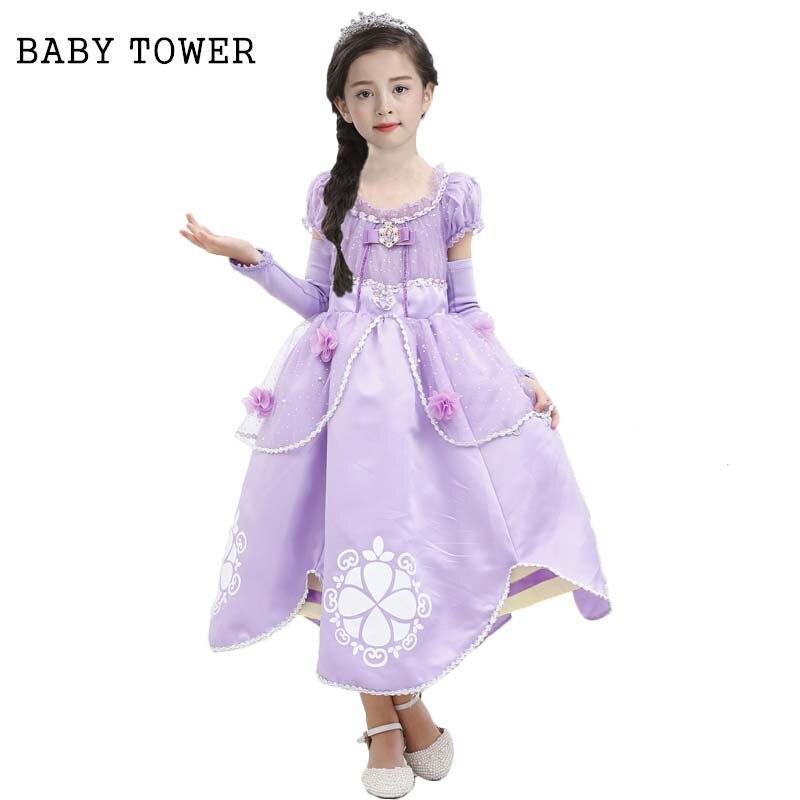 Baby Tower Princess Sofia Dress Girls