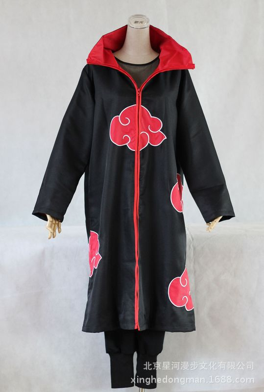 Akatsuki Uchiha Itachi Cloak Naruto Cosplay Costumes High Quality Coat Halloween Cosplay Costumes Anime Costumes Set