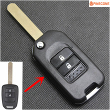 PINECONE for HONDA JAZZ GREIZ CIVIC XRV VEZEL CITY Key Car Case Styling 2 Button HON66 Blade Remote Shell 1 PC