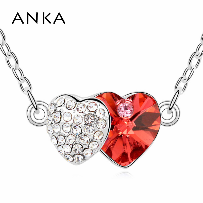 2018 New Collares Mujer Fine Jewelry Accessories Top Quality Double Pendant Necklace Crystals from Austria #99940