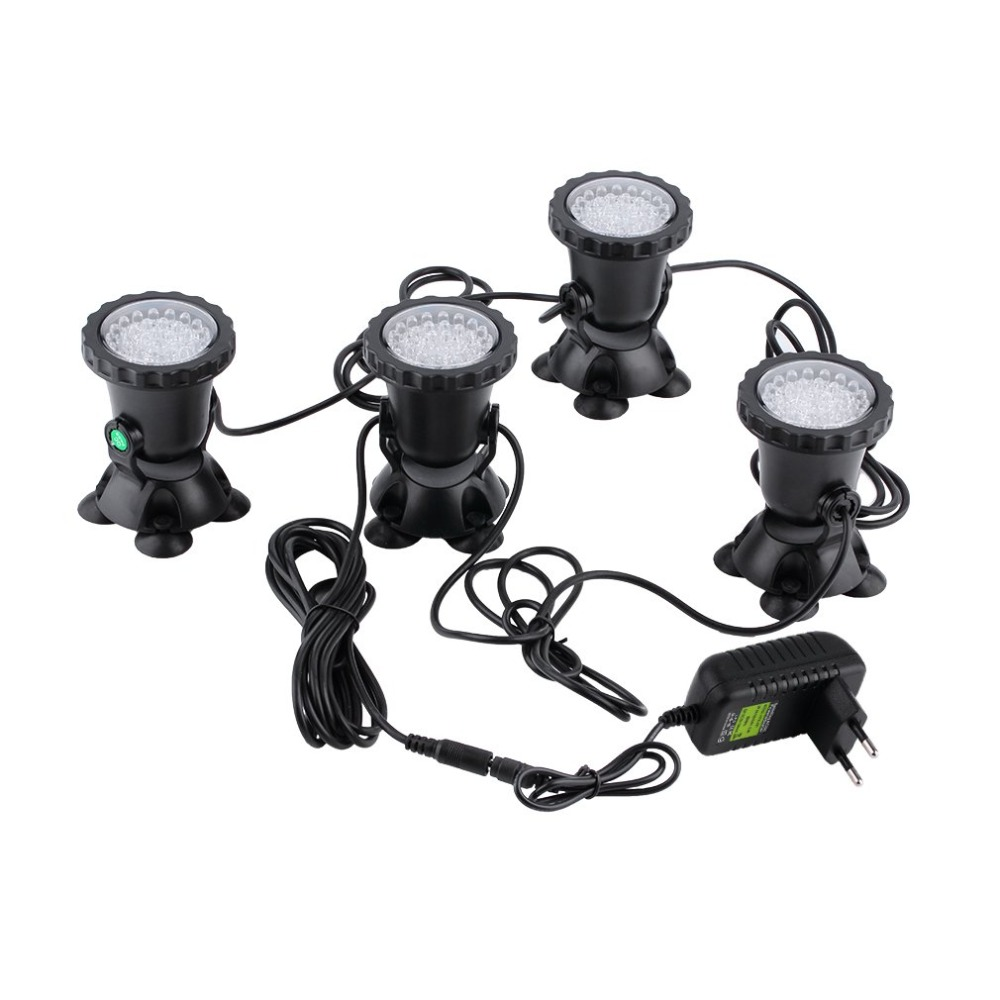 4pcs Waterproof Sealed Underwater Submersible Aquarium Pond Garden Fountain Fish Tank Pool Pond 36LED Spot Light influence of varying fish densities on pond nutrient dynamics