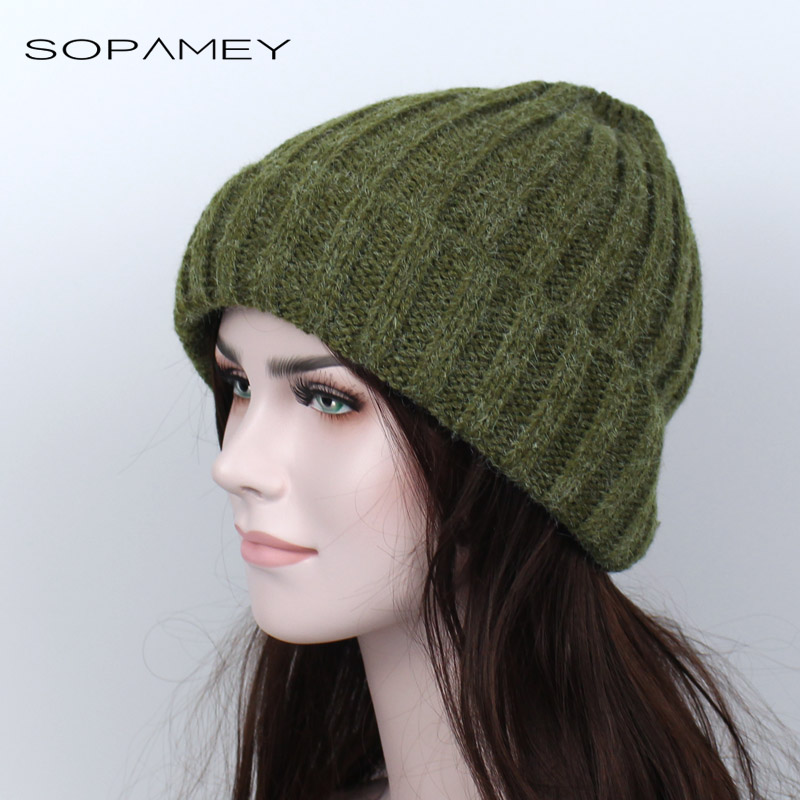 Winter Hats Solid Hat Female Unisex Plain Warm Soft Women's stripe Skullies Beanies Knitted Touca Gorro Caps for Men Women 2017 2017 unisex solid plain warm skullies beanies knitted touca gorro autumn winter caps hip hop slouch skullies for men women