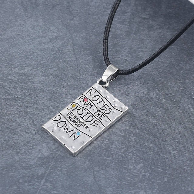 STRANGER THINGS NOTES FROM THE UPSIDE DOWN NECKLACE