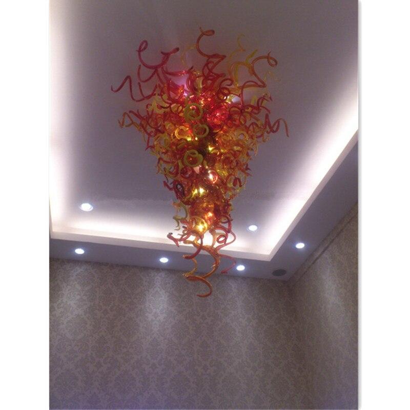 Chandeliers Latest Design Amber Modern Red Glass Chandelier Lighting
