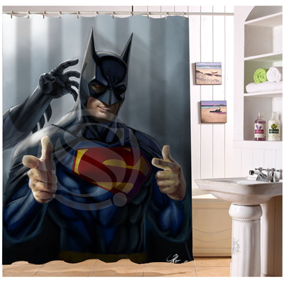 YY612f3 New Custom Anime superman Modern Shower Curtain bathroom Waterproof  lJ w3 China. Online Buy Wholesale anime bathroom from China anime bathroom