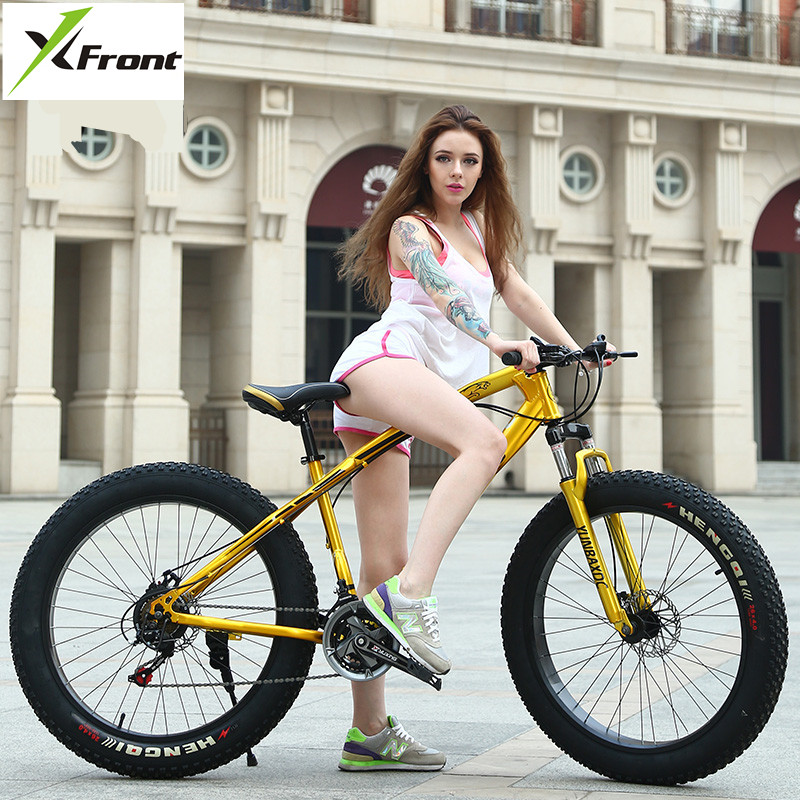 New Brand Beach Snow Bike Carbon Steel Frame 4.0 Width Tire 27 Speed 20/24/26 Inch Wheel Outdoor Sports Mountain MTB Bicycle