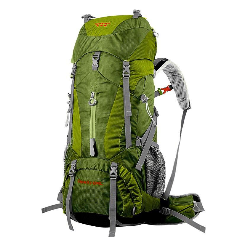새로운 도착 65 L 전문 패션 배낭 대용량 어깨 어깨 배낭 방수 나일론 레저 배낭 배낭