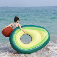 Giant avocado inflatable swimming ring adult children floating 160x125cm summer party swimming pool mattress toy