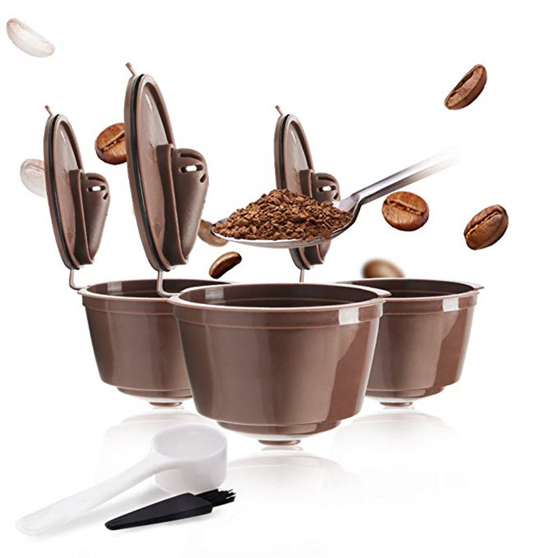 Reusable Refillable Capsules Pods For Nescafe Dolce Gusto Machines Maker Coffee Capsule Pod Cup Cafeteira Coffee Caps
