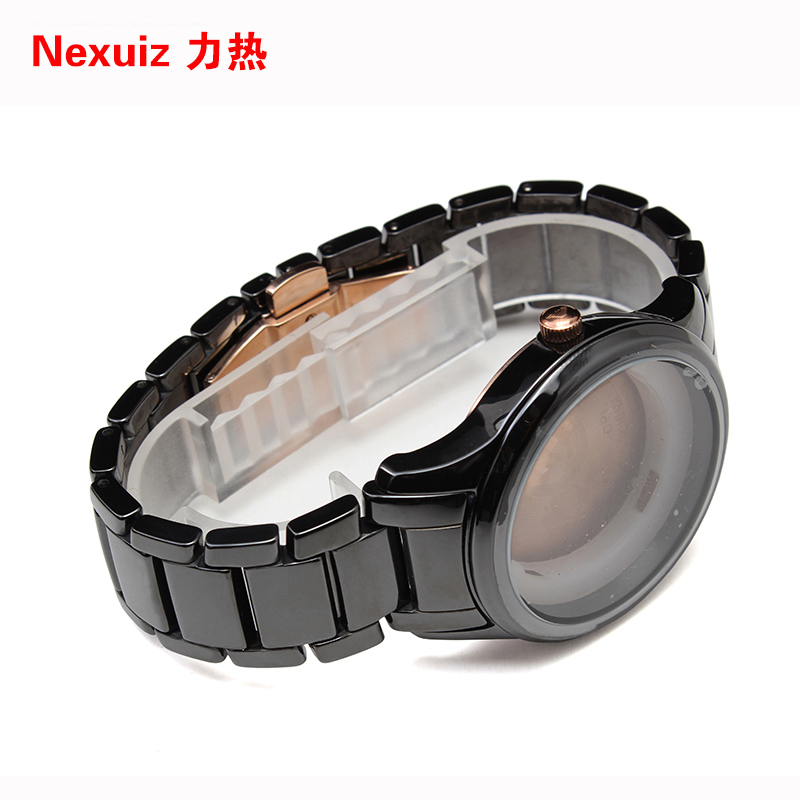 NEW Watchbands 22mm,High Quality Ceramic Watchband  black Diamond Watch fit AR1466  Man watches Bracelet  watch strap WATCHBAND new watchbands 18mm high quality ceramic watchband black diamond watch fit ar1412 women watches bracelet watchband