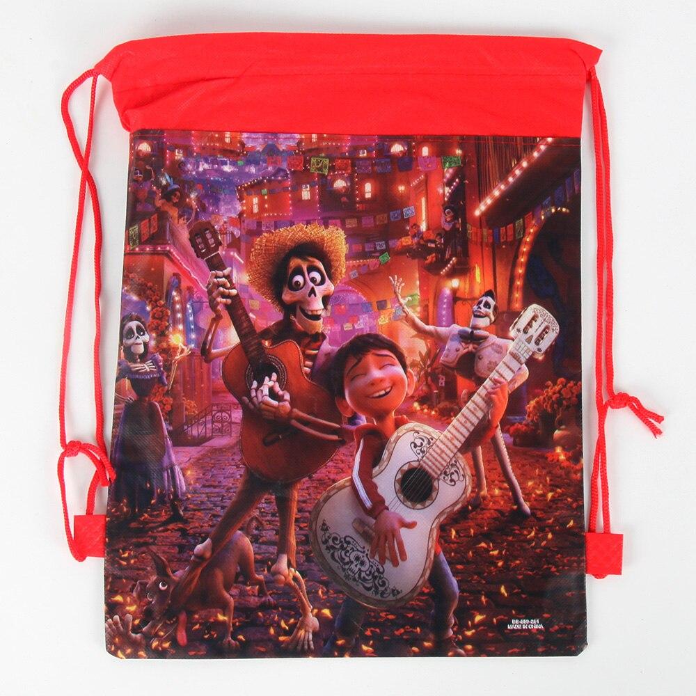 6 TEILE/LOS Film COCO Thema Geburtstag Party Geschenke Nicht-woven Kordelzug Goodie Bags Kinder Favor Schwimmen Schule Rucksäcke