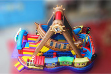 2016 new Factory direct Inflatable obstacle, inflatable slide, pirate ship KY-88 недорого