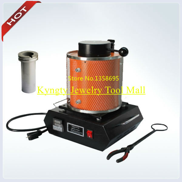 3kg Gold Melting Furnace With ONE PIECE CRUCIBLE FREE Silver Melting furnace for jewelry tools Mini melting furnace 220/110V gol